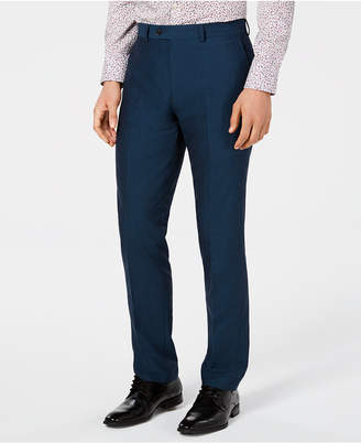Bar III Men's Slim-Fit Stretch Teal Suit Pants