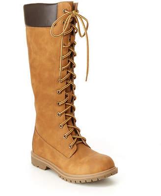 UNIONBAY Womens Genevie Flat Heel Lace-up Boots