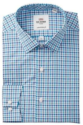 Ben Sherman Tattersall Soho Tailored Skinny Fit Dress Shirt