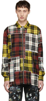 Palm Angels Multicolor Check Patchwork Shirt