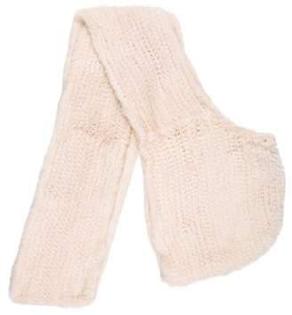 J. Mendel Hooded Knit Mink Scarf