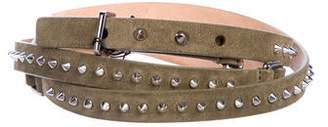 Barbara Bui Suede Studded Wrap-Around Belt w/ Tags