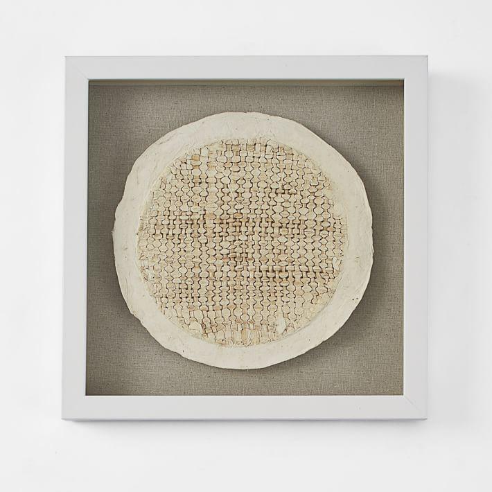 "west elm Handmade Paper Wall Art - Floating Circle 13"""