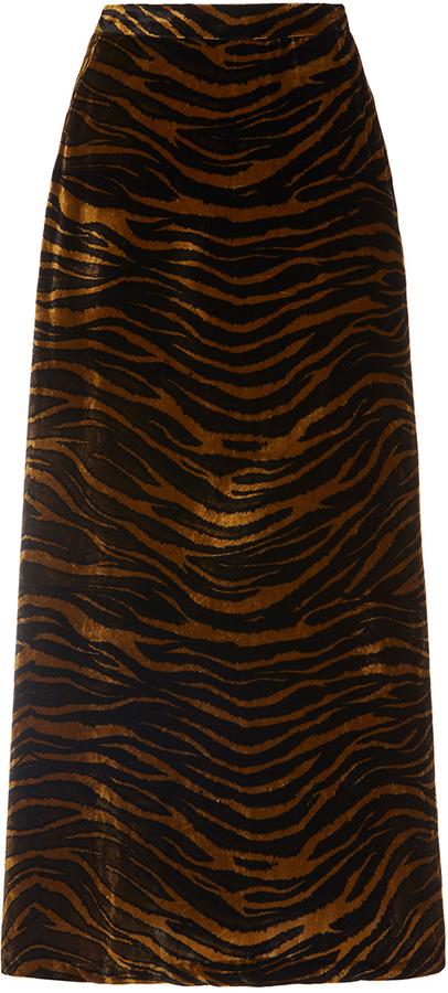 Roberto CavalliRoberto Cavalli Velvet A-Line Midi Skirt
