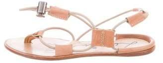 Lanvin Lace-Up Leather Sandals