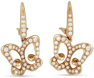 Luca Carati 18K Rose Gold 0.88 Ct. Tw. Diamond Butterfly Earrings