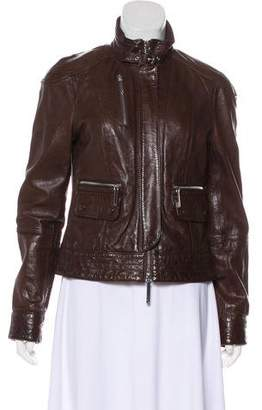 Tory Burch Bomber Leather Jacket