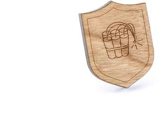 Dynamite Wooden Accessories Company Stick Lapel Pin, Wooden Pin