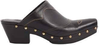 Ralph Lauren Black Leather Mules & Clogs
