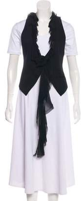 Elizabeth and James Ruffle-Trimmed Vest