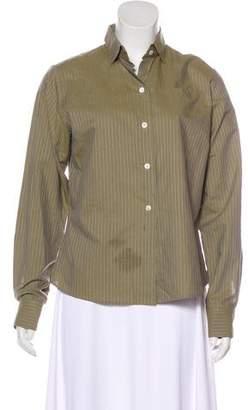 Lorenzini Striped Button-Up Top