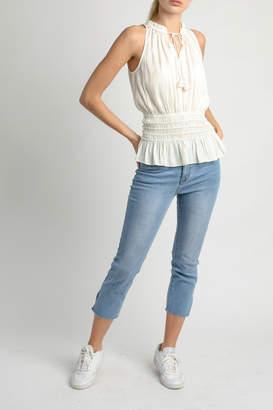 Current Air Sleeveless elastic waist top