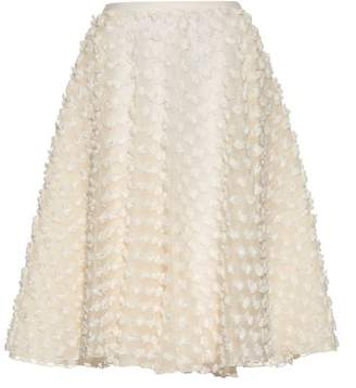 Rochas Textured Fabric A Line Skirt - Womens - Ivory