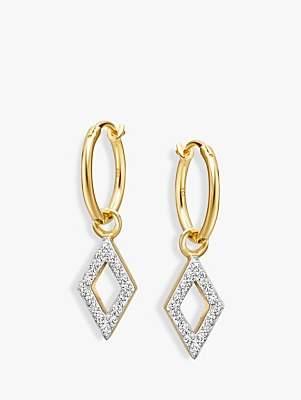 Missoma Diamond Charm Hoop Earrings, Gold