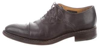 Calzoleria Harris Leather Semi-Brogue Oxfords