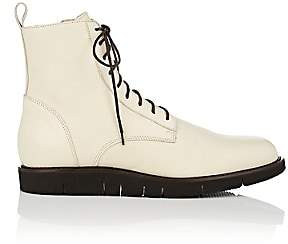 Barneys New York Men's Leather Lace-Up Boots-White