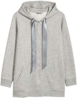 H&M H&M+ Hooded Sweatshirt Jacket - Gray