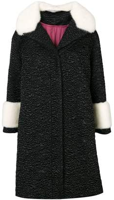 Gucci quilted coat with fur