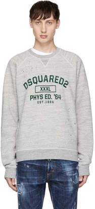 DSQUARED2 Grey Destroyed Classic Raglan Sweatshirt