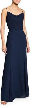 WAYF The Melanie Cowl-Neck Gown