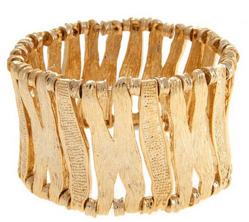 Stretch Bracelet in Gold - by RichRocks