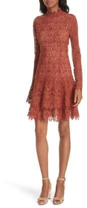 Jonathan Simkhai Guipure Lace Layer Hem Dress