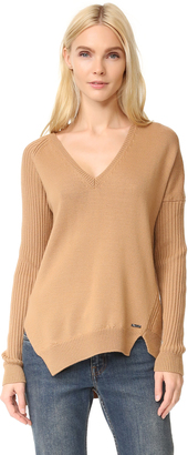 DSQUARED2 V Neck Ribbed Sweater $695 thestylecure.com
