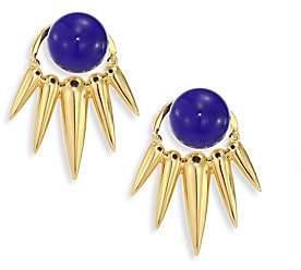 Lapis Nikos Koulis Women's Spectrum & 18K Yellow Gold Ear Jacket & Stud Earrings Set