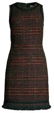 Kate Spade Multi-Tweed Fringe Sheath Dress