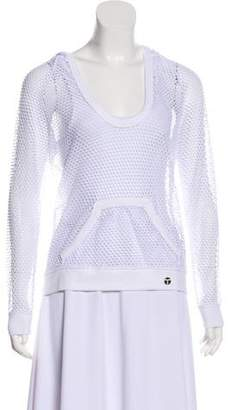 Trina Turk Mesh Hooded Sweatshirt