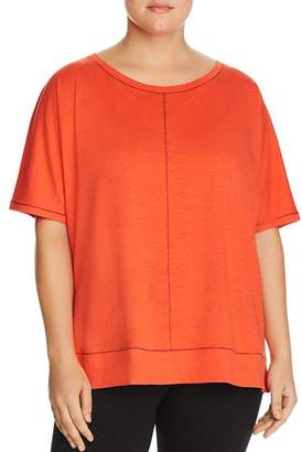 Eileen Fisher Plus Seamed Organic Cotton Top