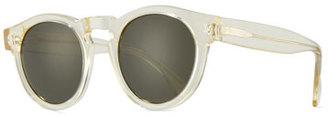 Illesteva Leonard Monochromatic Round Sunglasses, Champagne $177 thestylecure.com