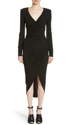 Michael Kors Stretch Jersey Wrap Dress