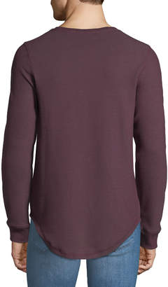 DKNY Men's Long-Sleeve Waffle-Knit Tee