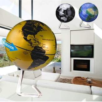 Generic 4'' 360 Dia Automatic Rotating Globe Battery Powered World Map Desktop Political Globe With Stand Education Tool Home Room Office Decor Kid Birthday Gift