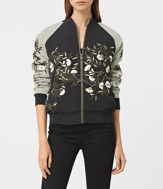 Amarey Embroidered Bomber Jacket $415 thestylecure.com