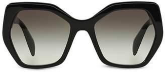 Prada Oversized Geometric Sunglasses, 56mm $280 thestylecure.com