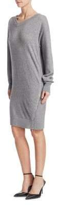 Alexander Wang Size Zip Oversized Sweatshirt Dress