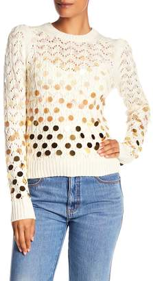 Marc Jacobs Knit Oversized Sequin Sweater