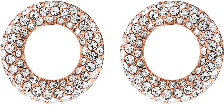 MICHAEL Michael Kors Michael Kors Brilliance rose gold-toned pavé stud earrings