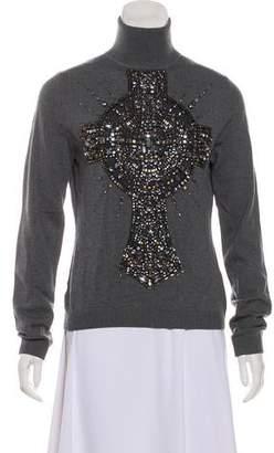 Kaufman Franco KAUFMANFRANCO Embellished Merino Wool Sweater