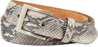 W.KLEINBERG W. Kleinberg Men's Matte Python Snakeskin Belt
