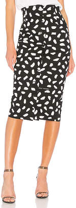 Off-White Pois Buttons Longette Skirt