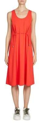 Kenzo Cinched Waist Crepe Dress