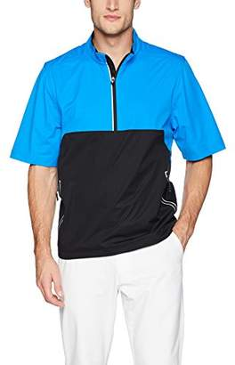 Cutter & Buck Men's Waterproof Packable Fairway Short Sleeve Half Zip Pullover