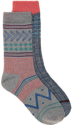 Lucky Brand Mixed Pattern Crew Socks - 3 Pack - Women's