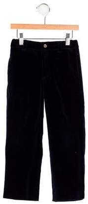 Oscar de la Renta Boys' Velvet Straight-Leg Pants