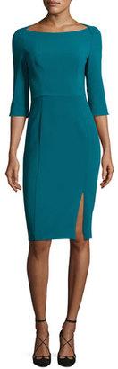 Black Halo Marissa 3/4-Sleeve Sheath Dress, Jade $345 thestylecure.com