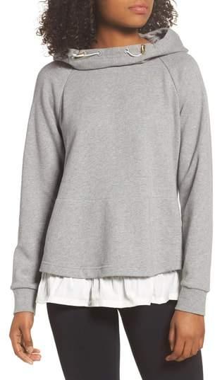 Ruffle Hoodie Sweatshirt