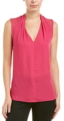 T Tahari Women's Daria Lace Sleeveless Blouse